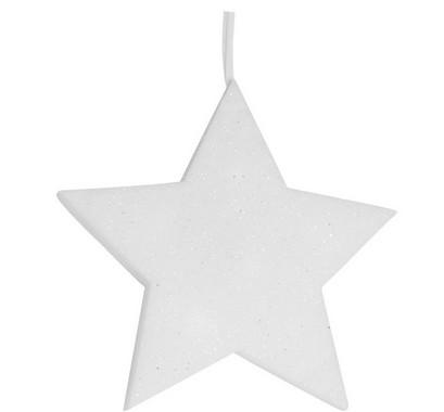 Hvězda - závěsná pěnová vánoční LED dekorace