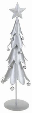 Stromek vánoční kovový - stříbrný
