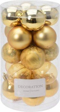 Vánoční koule - set 20ks - zlaté průměr 4cm