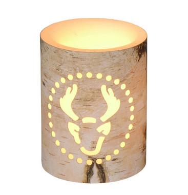 Vánoční LED svíčka s motivem soba - 7,5x7,5x10cm