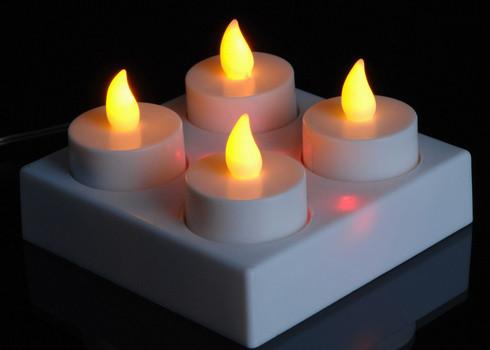 Vánoční svíčky LED čajové - dobíjecí