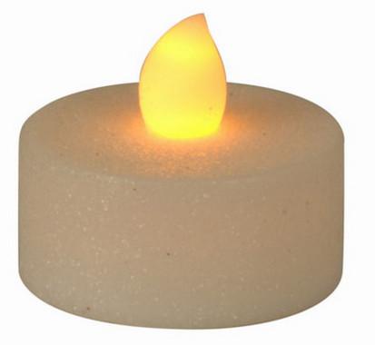 Vánoční LED čajové svíčky - třpytivě bílé