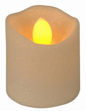 Vánoční LED čajové svíčky maxi - třpytivě bílé