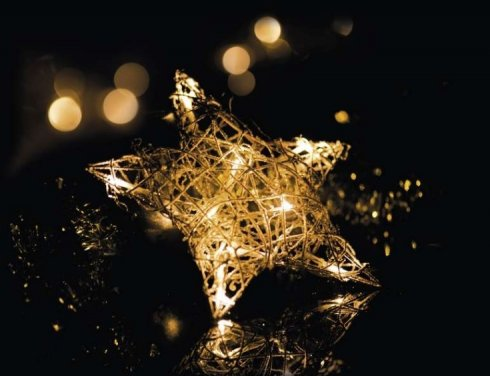 Hvězda ratanová svítící 10LED